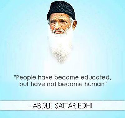 People have become educated, but have not become human